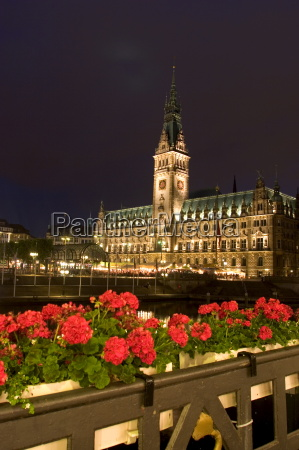 hamburg city hall in the altstadt