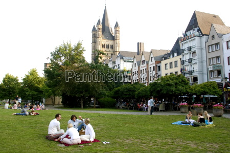 people sitting in a park in