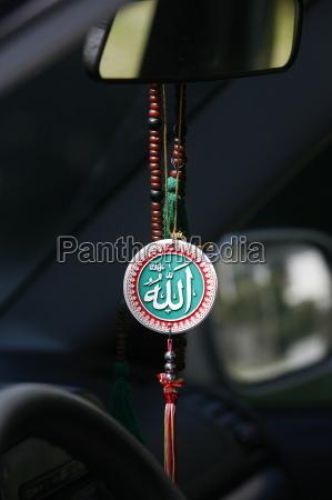 muslimische symbole im auto chatillon sur