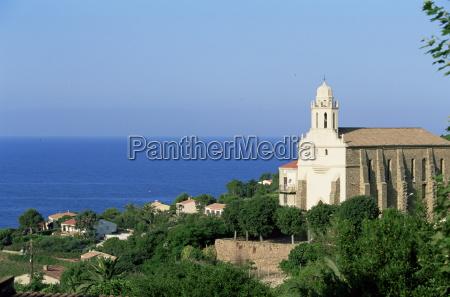 greek church cargese corsica france mediterranean