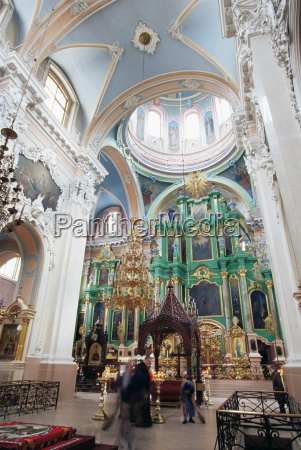 interior of the orthodox church of