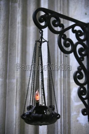 lamp in saint seurin basilica bordeaux