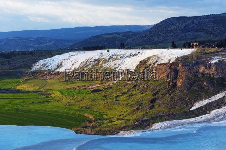 white travertine basins pamukkale unesco world