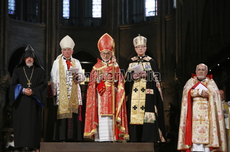 armenian catholic celebration in paris cathedral