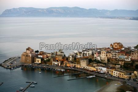 view over castellammare del golfo sicily