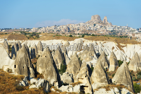 rock cut topography at uchisar unesco