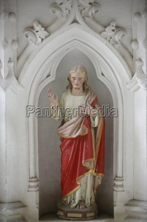 altarpiece showing christ blessing saint germain