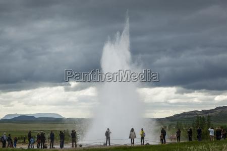 strokkur geyser geysir golden circle iceland