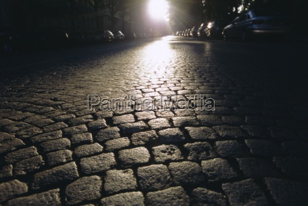 cobbles montmartre paris france europe