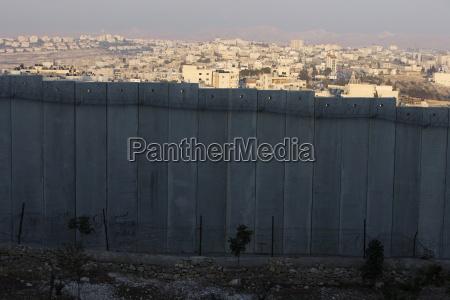 sicherheitsmauer in bethanien israel naher osten