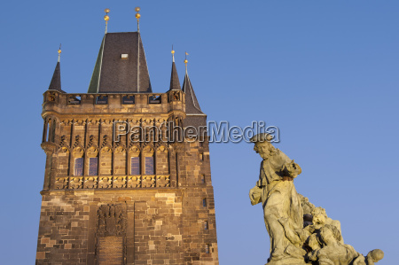 gothic old town bridge tower and