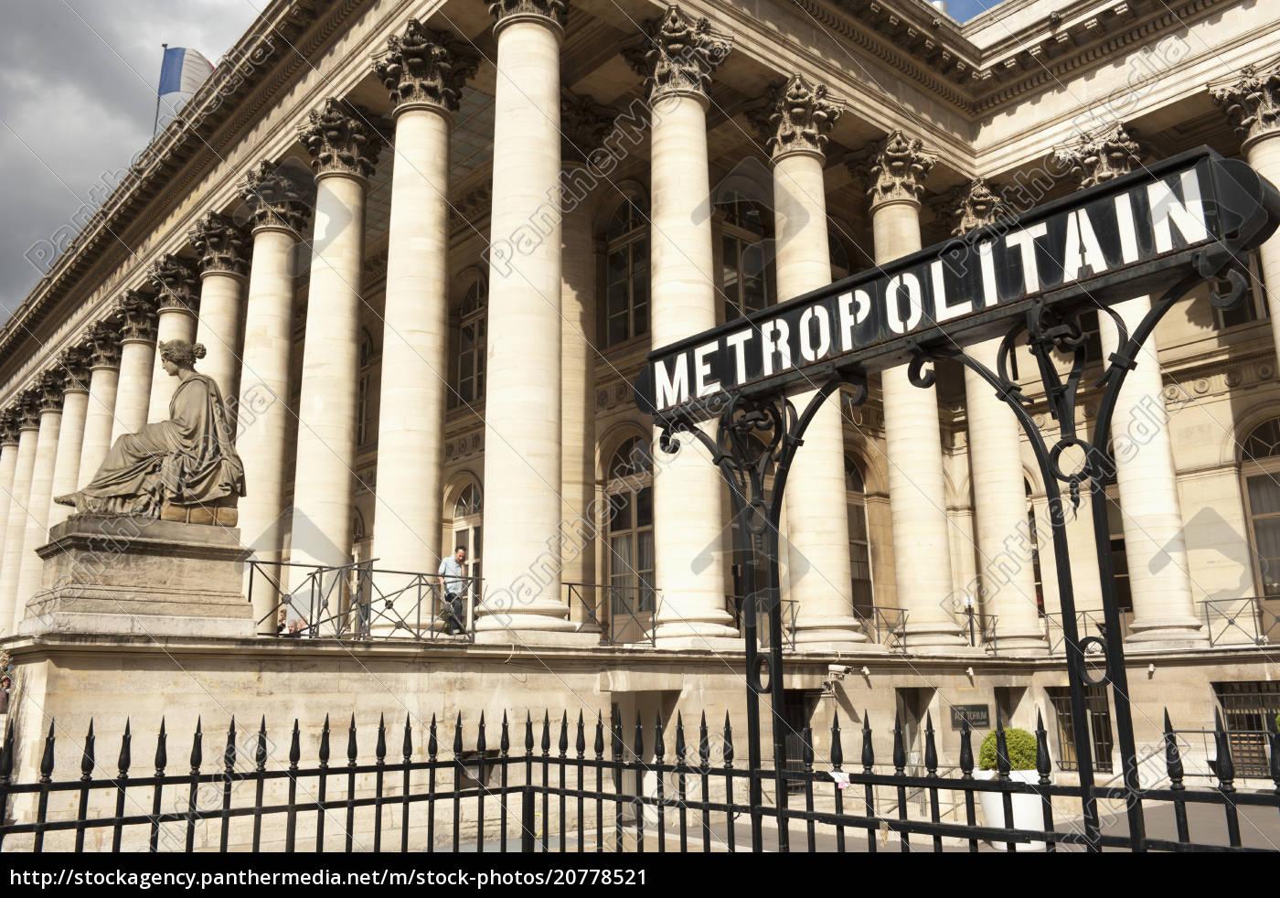 börse, (la, bourse), und, metropolitain, zeichen - 20778521