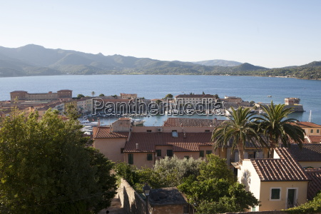 view over portoferraio elba island italy