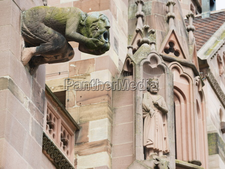 gargoyles on freiburg cathedral freiburg baden