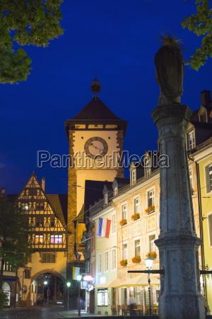 old town city gate freiburg baden