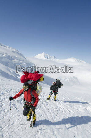 climbing expedition on mount mckinley 6194m