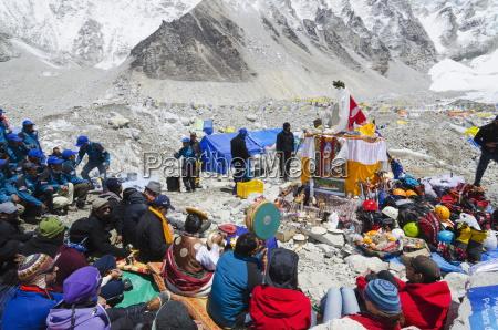 puja ceremony everest base camp solu