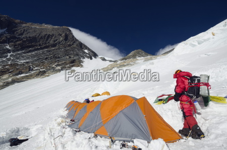 camp 3 at 7100m on the