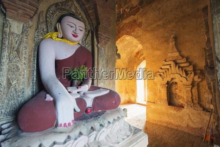 buddha statue in temple bagan pagan