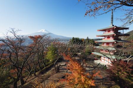mount fuji 3776m and arakura sengen