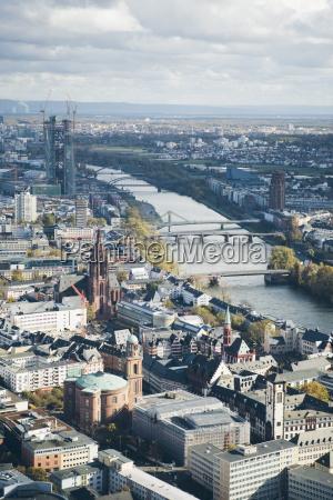 high angle view of frankfurt am