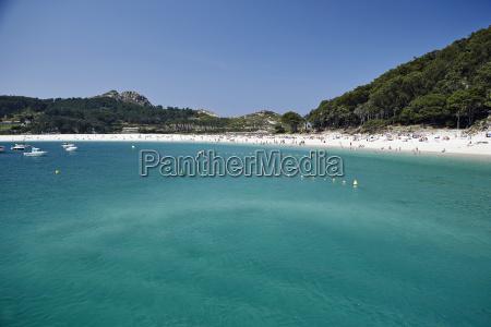 rodas beach cies islands galicia spain