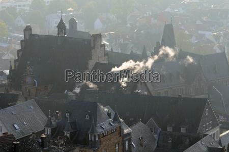 rooftops of medieval buildings in marburg