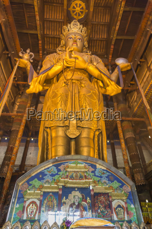 huge golden buddha statue migjid jaaisig