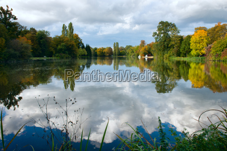 reflections on lake schwetzingen palace gardens