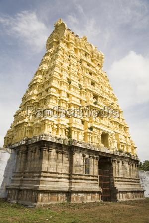 a dravidinian gopuram temple gateway at