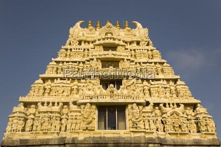 the gopuram temple gateway of the