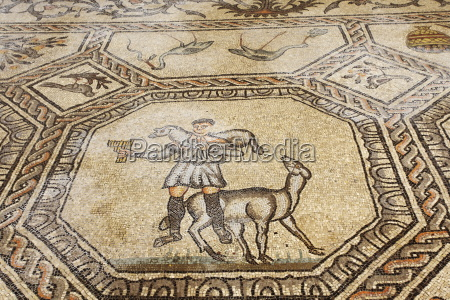early christian mosaic floor dating from