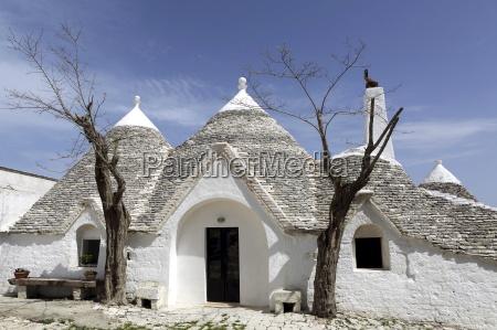 a traditional trullo house at masseria