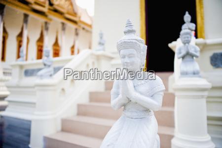 small white buddha statue temple of