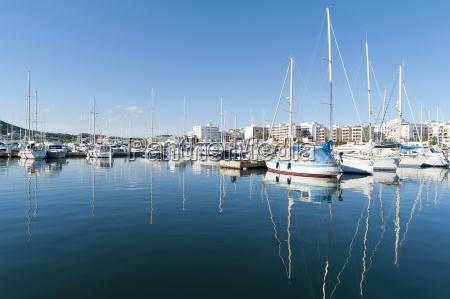 view of the boats marina santa