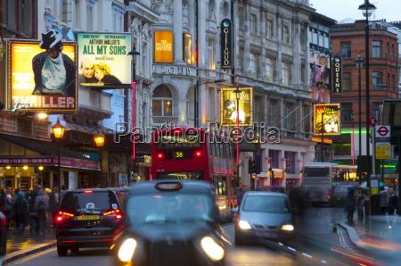 theatreland shaftesbury avenue london england united