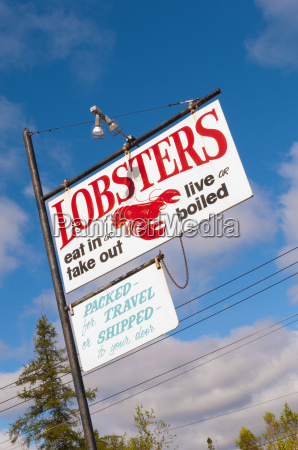 sea food for sale signs mount
