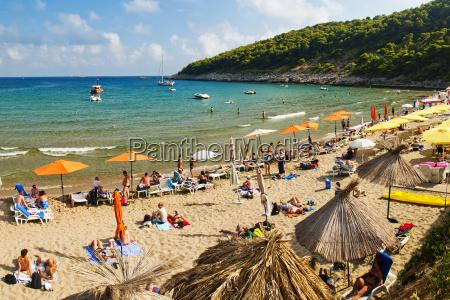 sunj beach a popular sandy beach