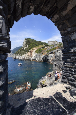 window overlooking byrons grotto from the