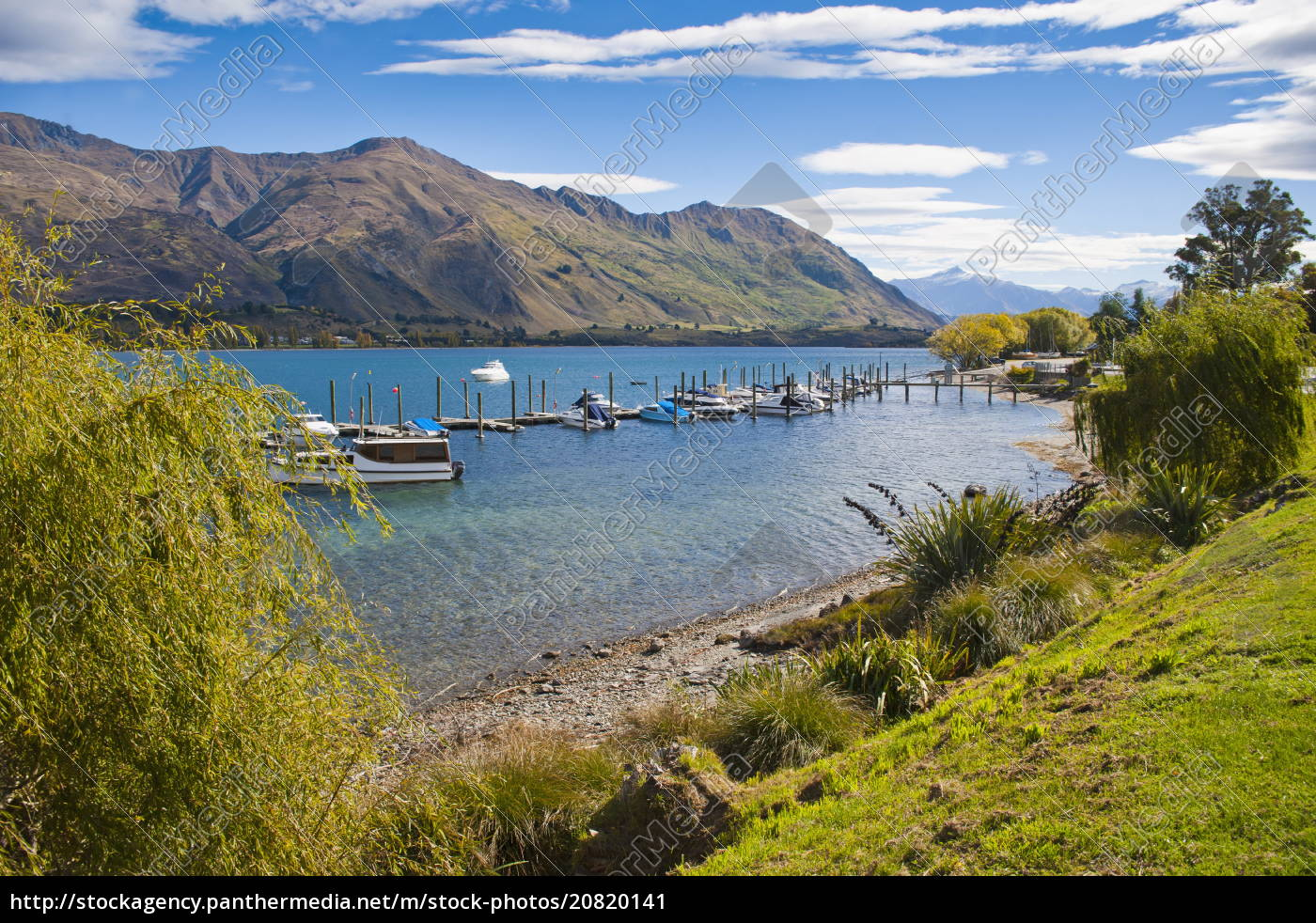 lake, wanaka, hafen, segelboote, wanaka, südinsel, neuseeland, pazifik - 20820141