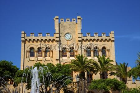 town hall ciutadella menorca balearic islands