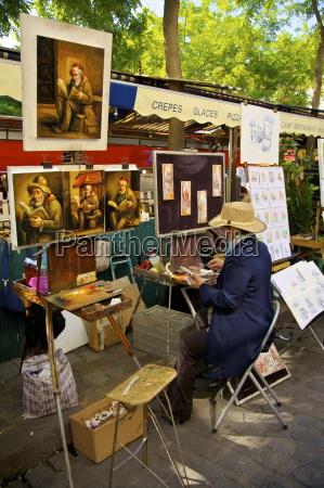 artists market montmartre paris france europe
