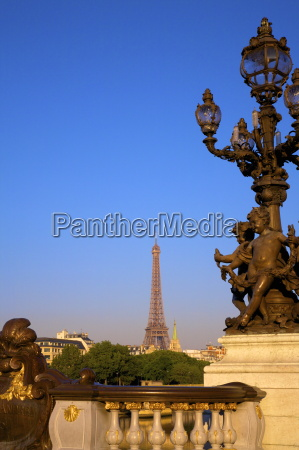 pont alexandre iii with eiffel tower