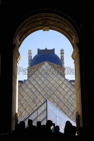 louvre pyramid paris france europe