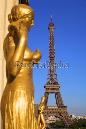 palais de chaillot and eiffel tower