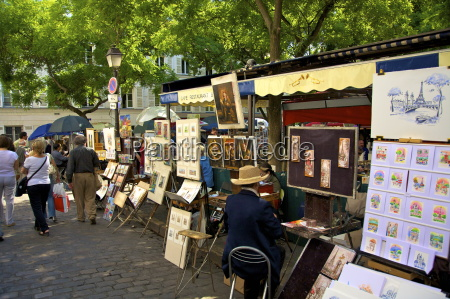 artists market montmartre paris france europe
