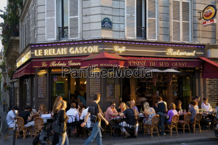 restaurant in montmartre paris france europe