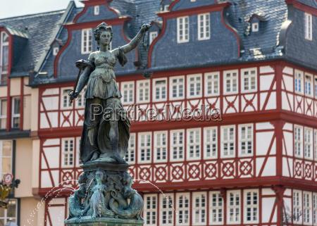 altstadt old town romerberg frankfurt am