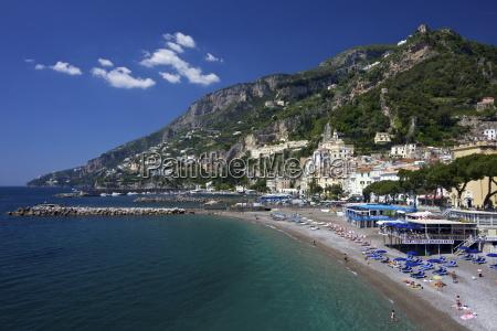 amalfi town beach costiera amalfitana unesco