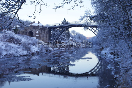 ironbridge gorge and river severn in